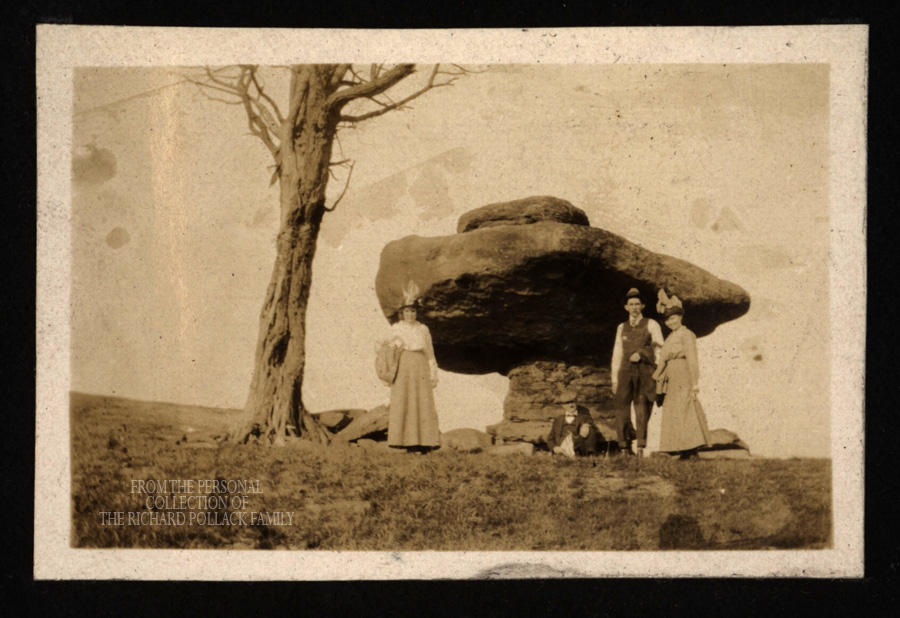 Early photo of Table Rock, courtesy the Richard Pollack family