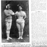 Trapeze artists, Ms. Oneida and Delmore.