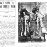 The Chatham Sisters played Coney Island in June 1905.